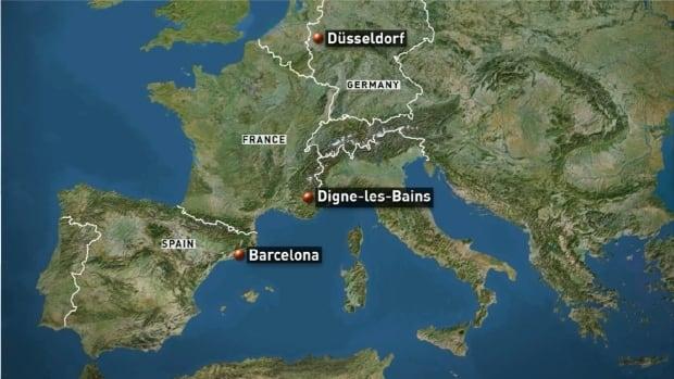 Germanwings crash france map