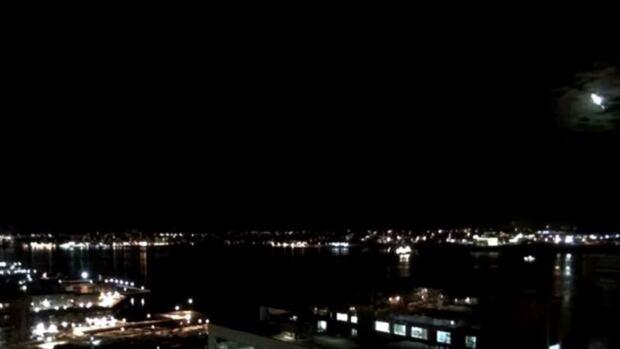 Nova Scotia Webcams caught the phenomenon on camera