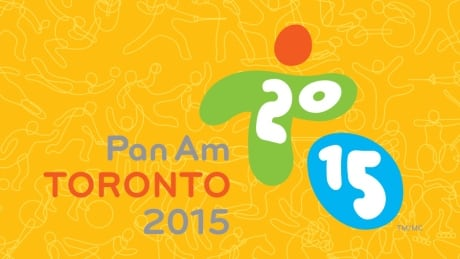 Pan Am Games promo image - logo with yellow background
