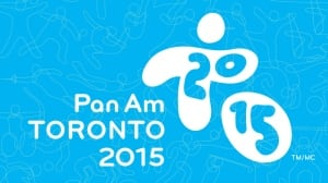 Pan Am Games promo image - logo with blue background