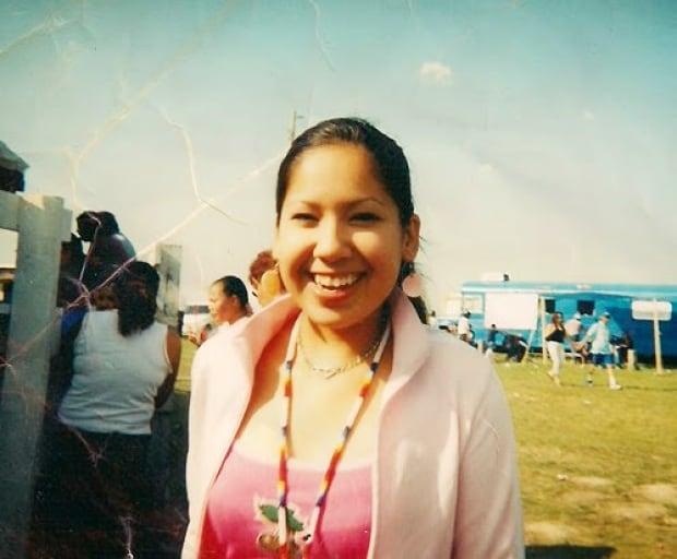Amber Redman at a powwow