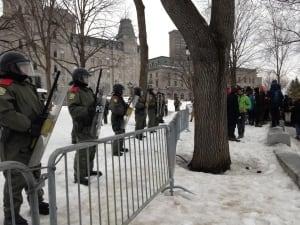 Quebec City protest