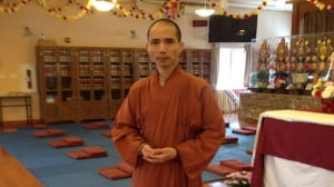 Venerable Liu at Great Enlightenment Buddhist Institute Society