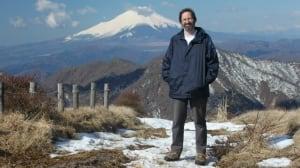 Jason atop Mount Fugi