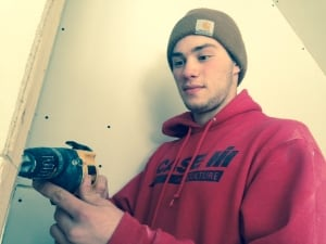 Campus Regina Public school student Tanner Laliberte learns the trades