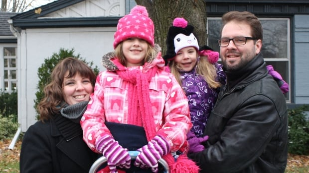 The Dupuis family, from L to R: Tracy, Lucy (6), Eloise (4) and Matthew.