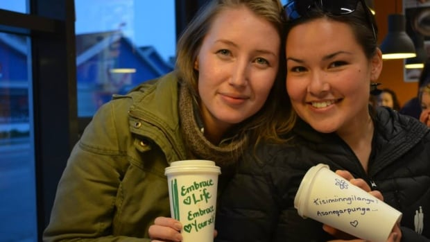 The photos from the Life is Beautiful project depict Greenlanders holding up positive phrases in both English and Kalaallisut, a Greenlandic dialect.