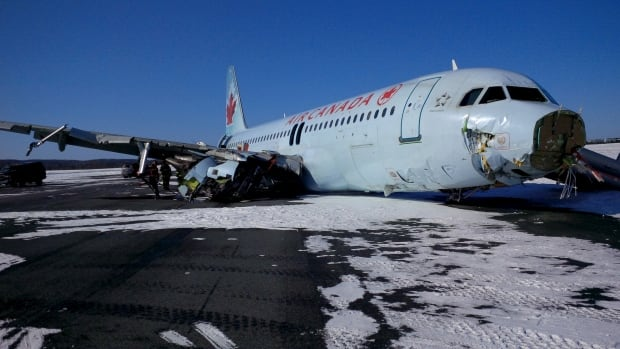 Air Canada Flight 624 was travelling from Toronto to Halifax carrying 133 passengers and five crew members when it crashed.
