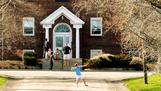 Students play on the grounds of King's-Edgehill school in Windsor, N.S., in 2009.  A Statistics Canada study says private students' relative success was due to their backgrounds and classmates, not the schools' resources and practices.