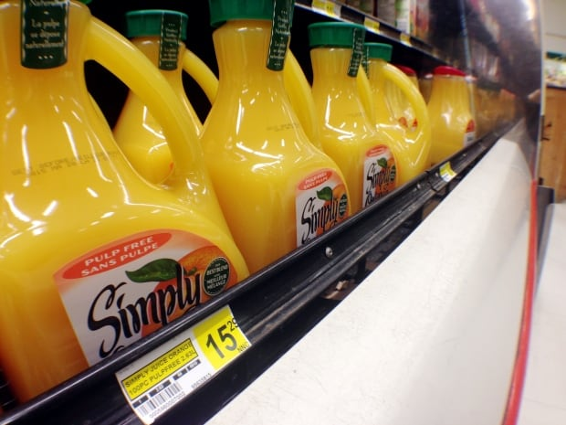 Expensive orange juice at NorthMart March 2015