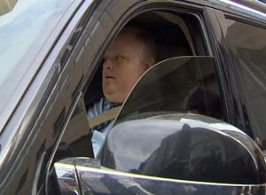 Rob Ford in his Escalade