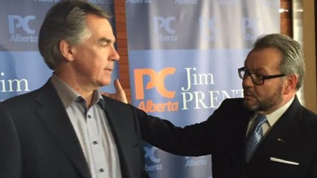 """Premier Jim Prentice introduces city councillor Tony Caterina Thursday as the Tories' """"star candidate"""" in Edmonton-Beverley-Clareview."""