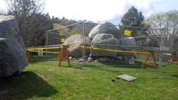 Heather Carr was pulled from these rocks by firefighters after she set a deliberate fire in what her husband called a pagan ritual gone wrong.