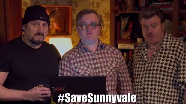 In character, the boys plead with fans of the show to write to the Nova Scotia minister of finance to not make cuts to the Nova Scotia Film Tax Credit program.