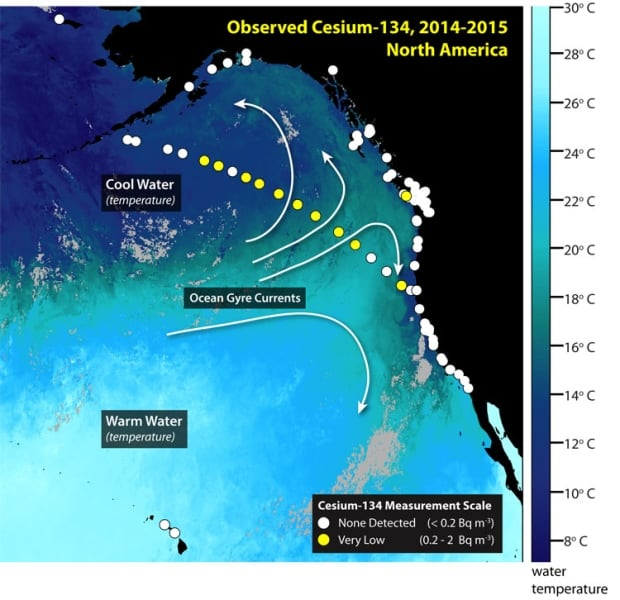 Radiation monitoring Pacific coast