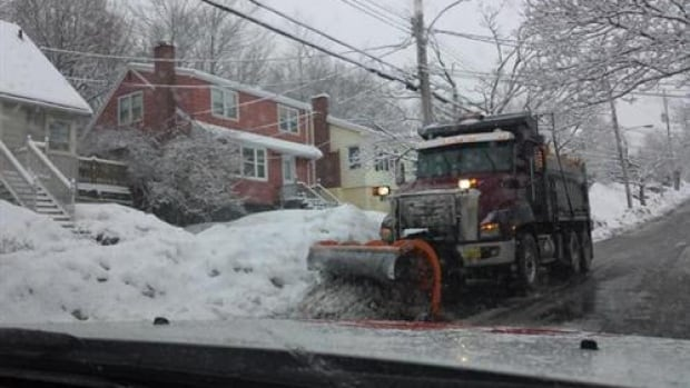 Snow plows begin clearing residential side streets within six hours after snowfall ends, according to Halifax's snow removal policy.