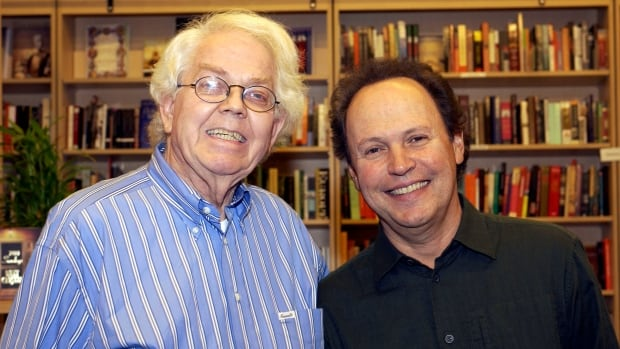 Stan Freberg, left, and Billy Crystal are shown at a 2005 event in Beverly Hills, Calif.