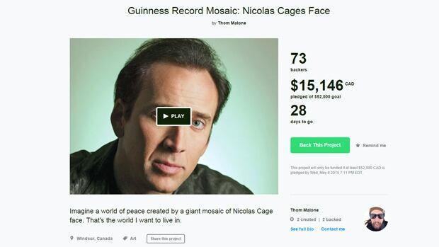 Cage Face mural Kickstarter