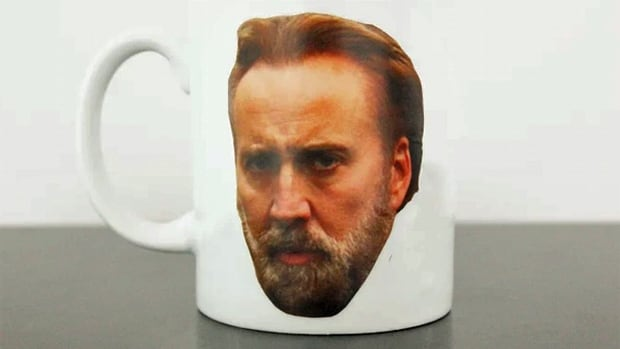 If this is how you like your cup of Joe, you may be interested in the rewards for a Kickstarter campaign that's aiming to install a giant Nicolas Cage face in Windsor, Ont.
