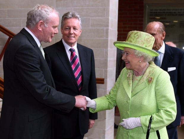 Queen Elizabeth Northern Ireland Martin McGuinness June 27 2012