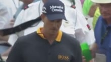 Henrik Stenson snaps club in half at the Masters