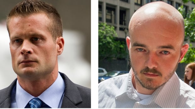 Former Blackwater employees Evan Liberty, left, and Nicholas Slatten are shown in a file photo. A years-long legal fight over a deadly mass shooting of civilians in an Iraq war zone reaches its reckoning point, when four former security guards are sentenced for the rampage.