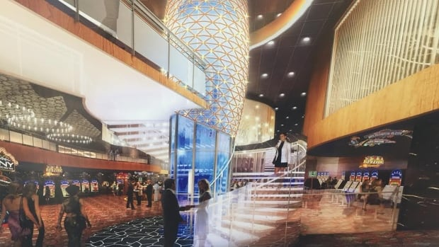 An artist's rendition of the new casino under construction near the existing Baccarat Casino downtown.