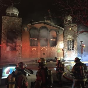 Greek church fire 3