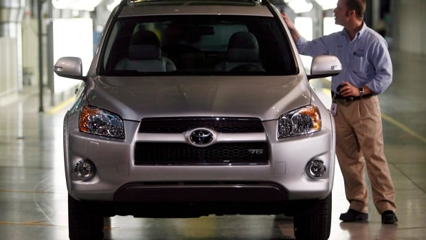 The RAV4 is one of the vehicles that Toyota builds in Woodstock, Ont. The company said Wednesday it plans to use the plant to build other models when Corolla production stops.