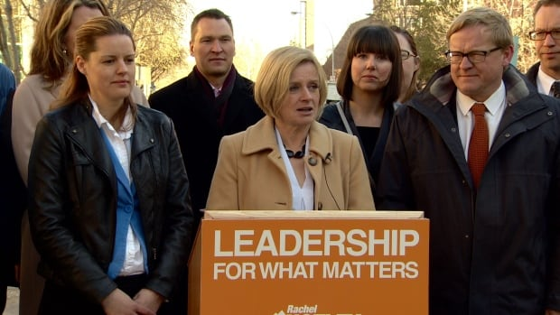 Rachel Notley said an NDP government would introduce a new tax credit to encourage small businesses to hire new workers.