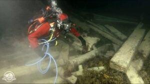 Diver at HMS Erebus