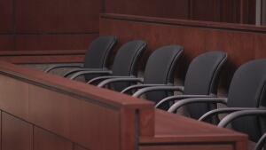 Yellowknife courtroom jury box