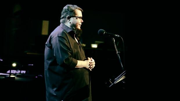 Shane Koyczan's hard-hitting spoken word poetry touches on social issues like bullying.