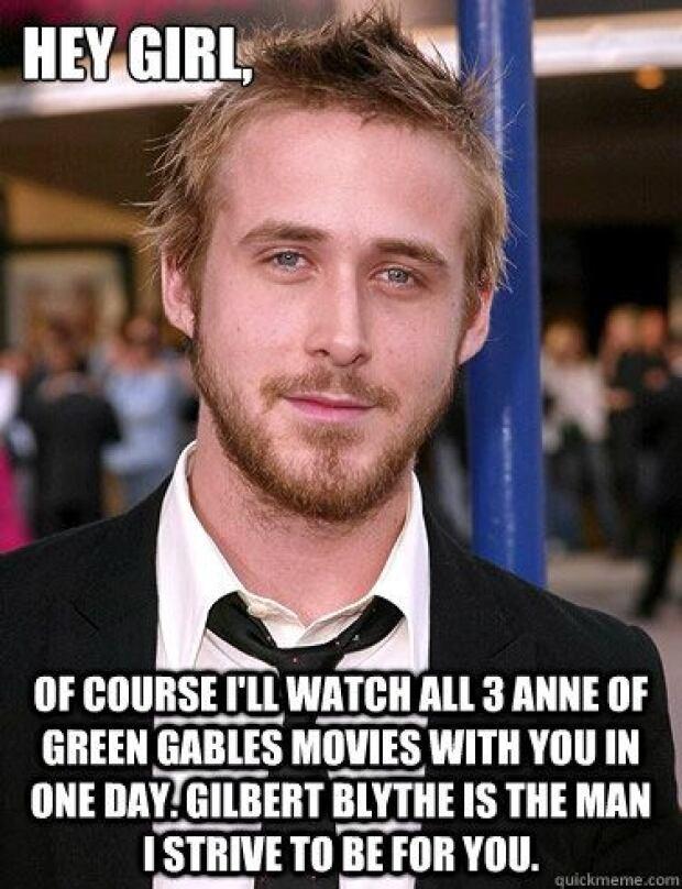 Ryan Gosling Gilbert Blythe