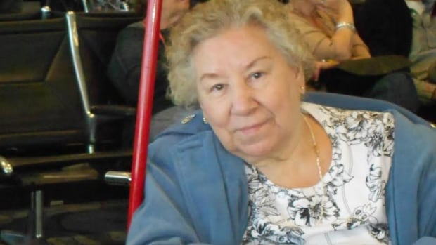 This photo of Ruth Macumber was taken at the Toronto airport, just before she boarded AC624.