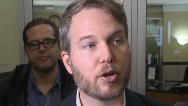 Marc Almon, chairman of Screen Nova Scotia, spoke about the new agreement Thursday afternoon.