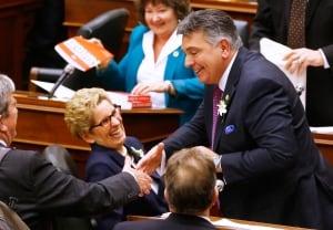 Ontario budget Sousa Wynne