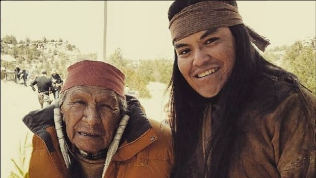 Actor Loren Anthony, right, posted this image of himself and fellow actor Saginaw Grant on the set of The Ridiculous Six on his Instagram account. Loren is among a group of American Indian actors who walked off the set over complaints that the script was disrespectful to elders and Native women.
