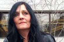 Laurie Beaudoin Connor Stevenson mother outside courthouse April 24 2015