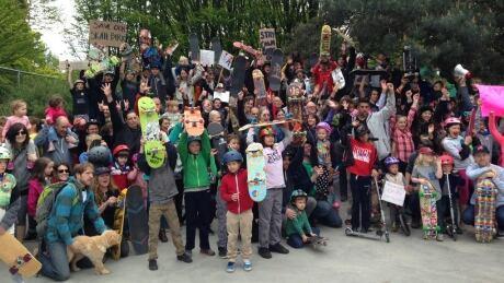Mount Pleasant skate board park rally