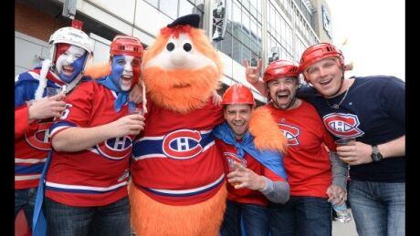 Youppi! the Canadiens mascot.