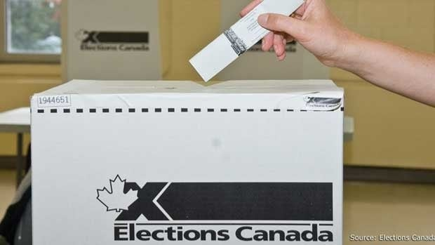 Elections Canada is blaming a printing error after a Vancouver voter was twice given a ballot with pre-marked streaks.