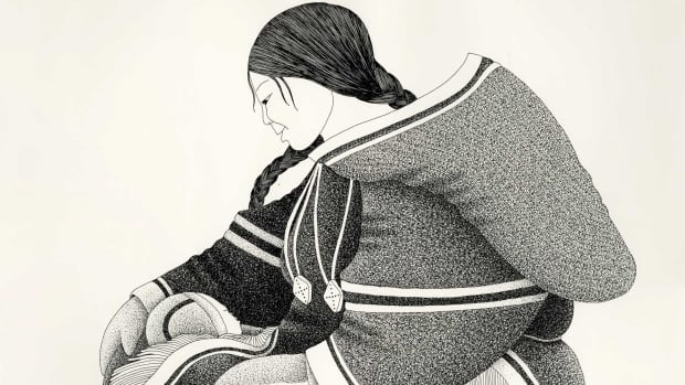 Mother and Child, a drawing by Germaine Arnaktauyok. Arnaktauyok will officially launch her biography Tuesday night in Yellowknife.