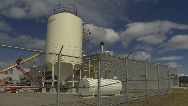 A biomass boiler installed in 2012 at the Whitehorse Correctional Centre burns wood pellets, brought in from B.C.