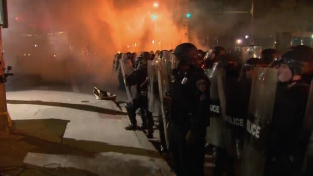 Baltimore after curfew