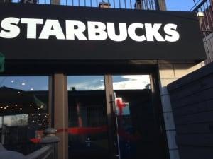 Starbucks Spray Paint Vandalized