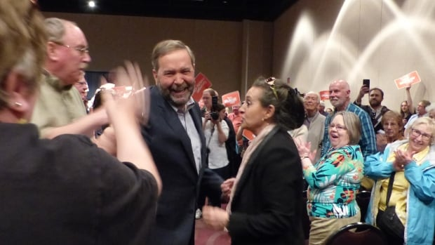 NDP Leader Thomas Mulcair, centre, has had two good weeks. Can he have five more good months?
