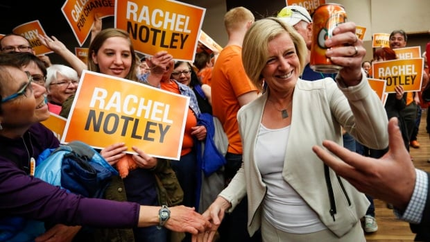Alberta premier-designate Rachel Notley says her victory this week could send a message to voters across the country.