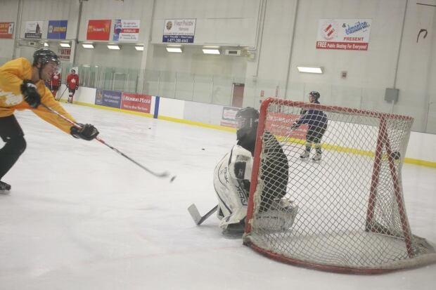 Dudley Hanks Hockey Shot