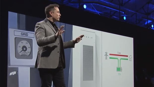 Tesla CEO Elon Musk launched the Powerwall home battery system last week. NRStor and Opus One Energy are to start testing it in Canada this fall.